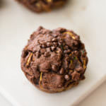 Triple Chocolate Zucchini Noodle Protein Muffins