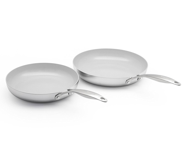 Ceramic Non-Stick Open Frypan Set