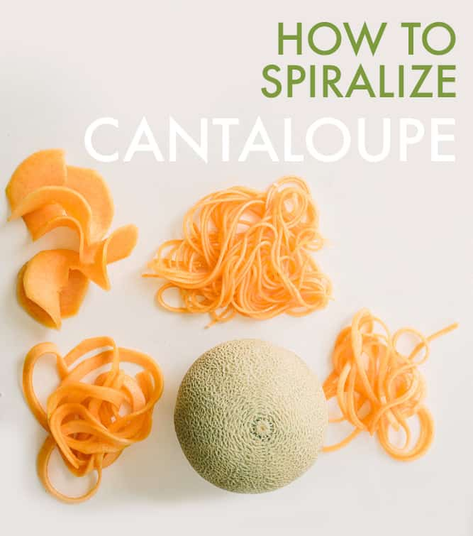 How To Spiralize Cantaloupe (Video)