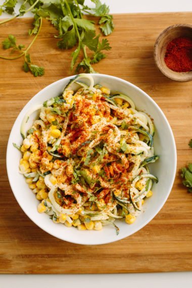 Elote with Zucchini Noodles