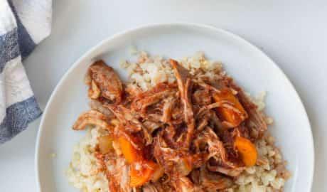 Italian Pork Ragu with Garlic Cauliflower Rice