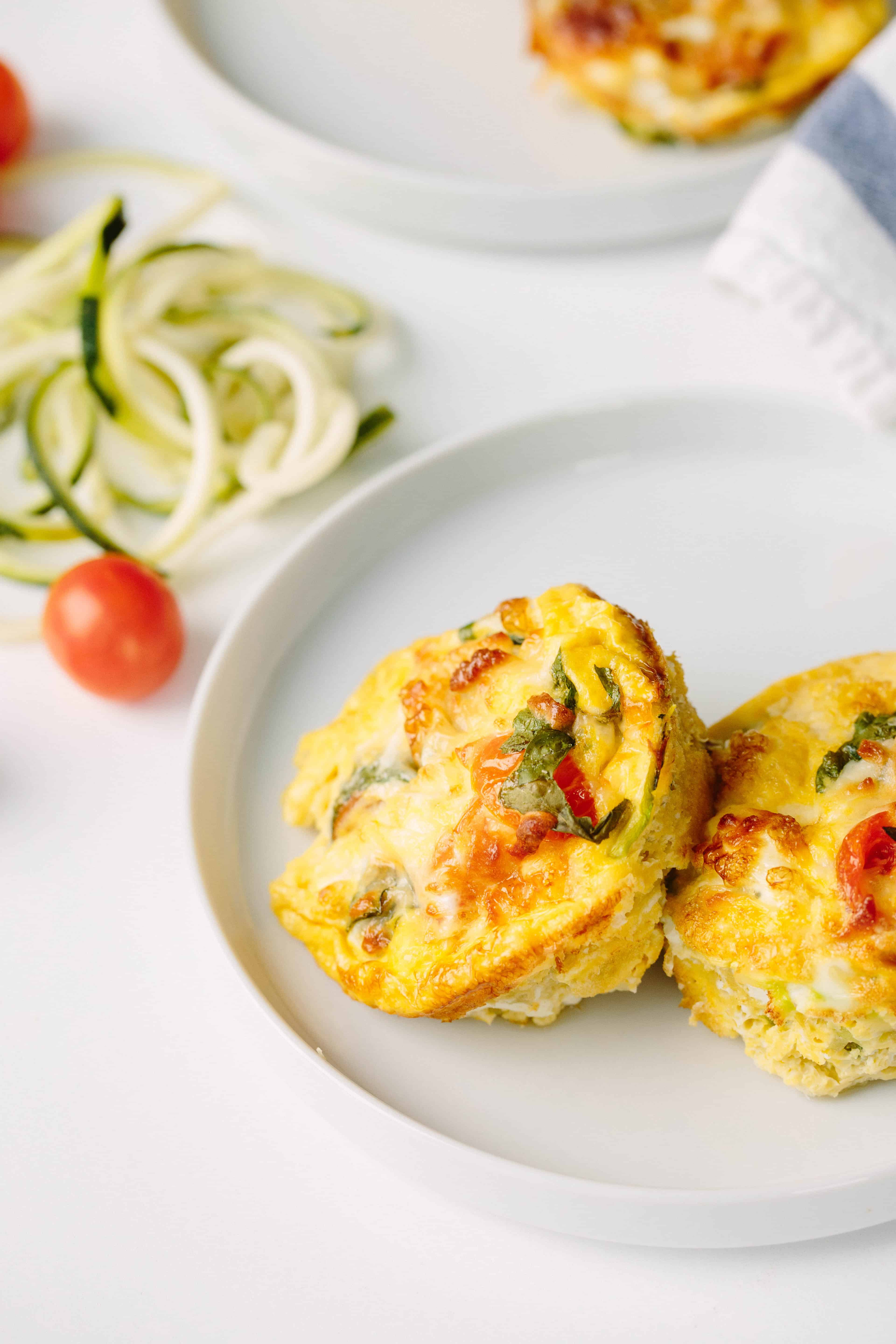 Summer Egg Muffins with Zucchini Noodles