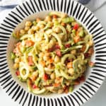 Chopped Zucchini Pasta Salad with Avocado-Mustard Dressing