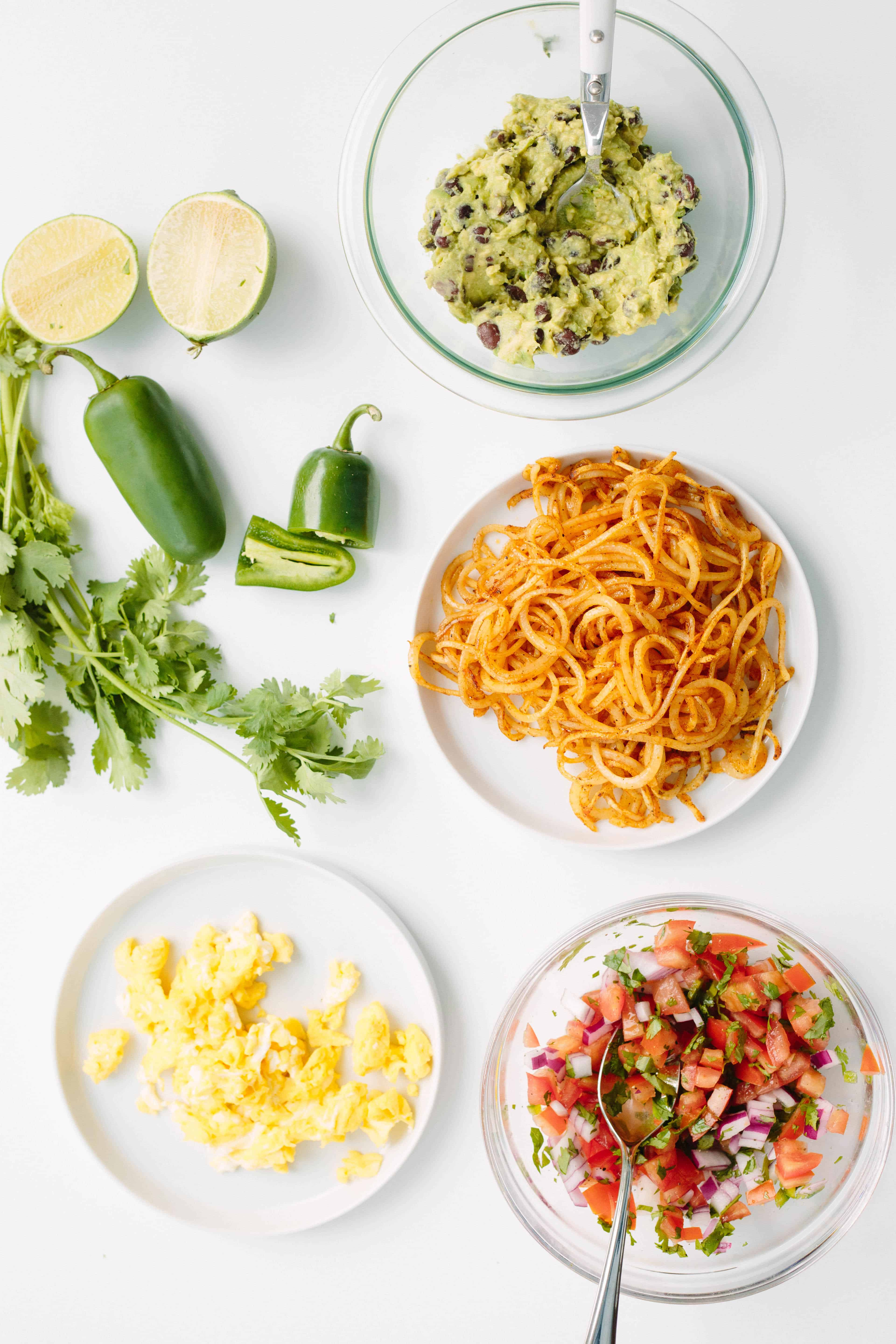 Mexican Breakfast Bowl with Spiralized Potatoes