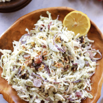 Spiralized Cabbage and Apple Waldorf Salad