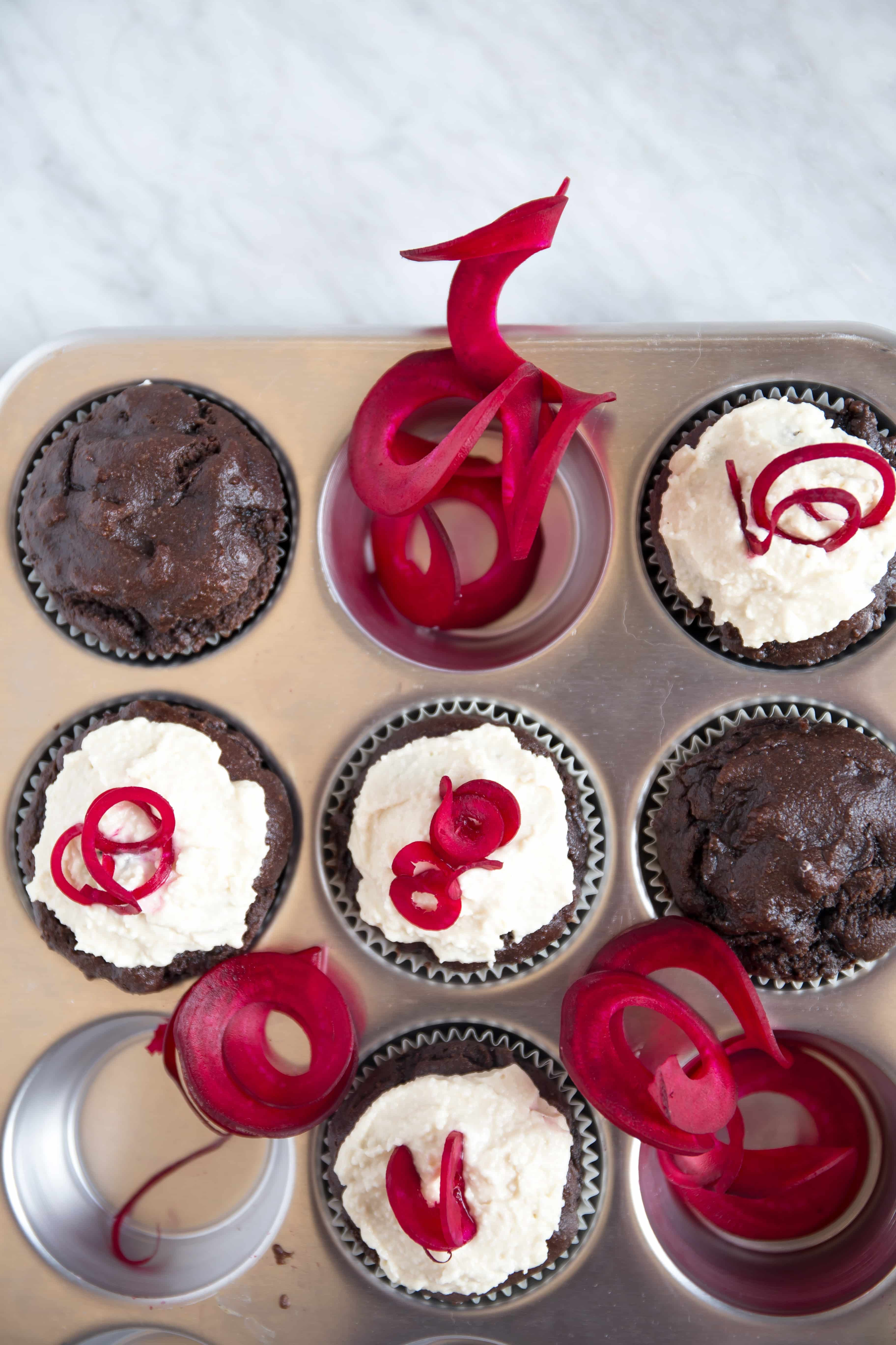 Red Velvet Cupcakes With Spiralized Beets