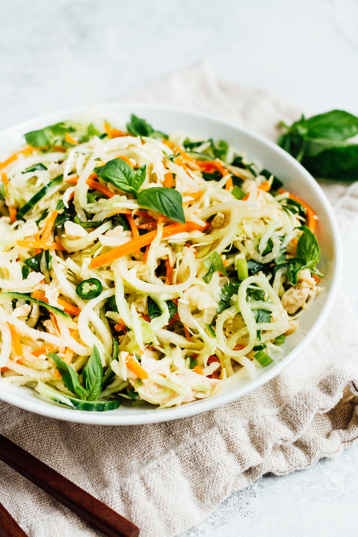 Spiralized Vietnamese Chicken Salad