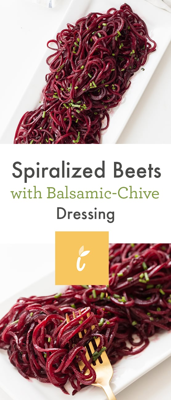 Spiralized Beets with Balsamic-Chive Dressing