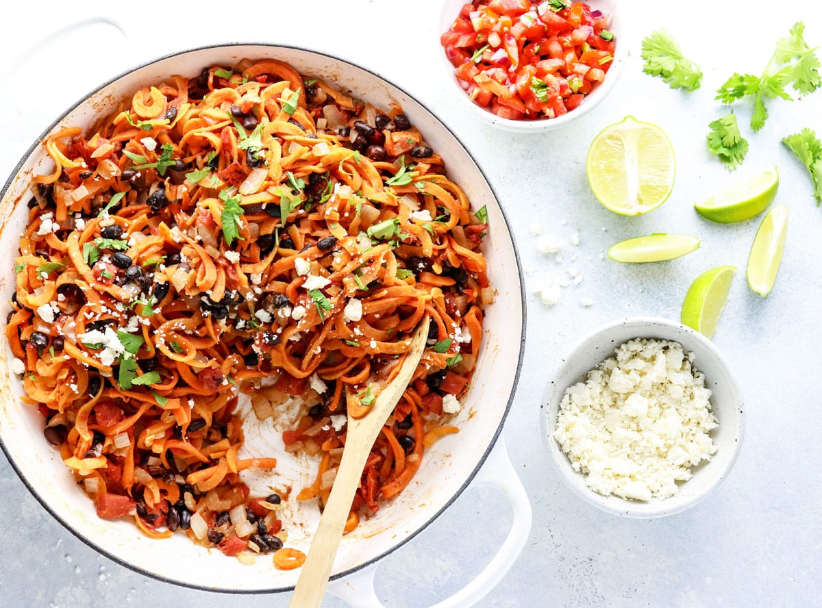 Sweet Potato Noodle Enchilada Stir-Fry