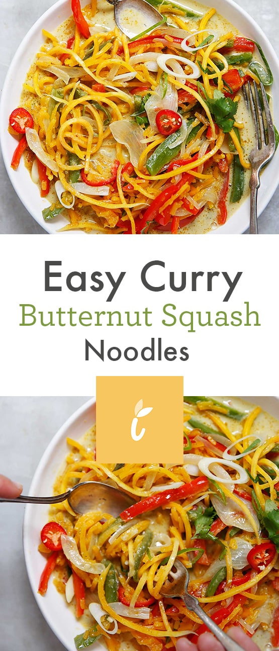 Easy Curry Butternut Squash Noodles