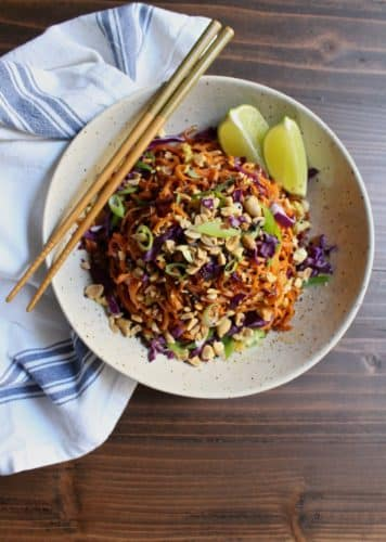 Sweet Potato and Cabbage Pad Thai