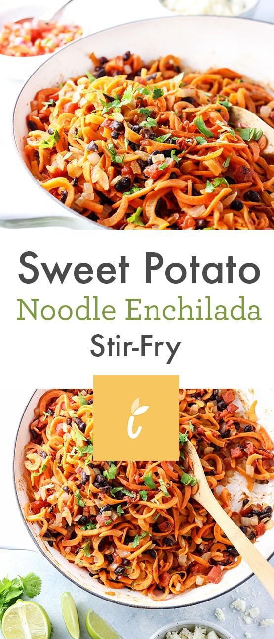 Sweet Potato Noodle Enchilada Stir-Fry