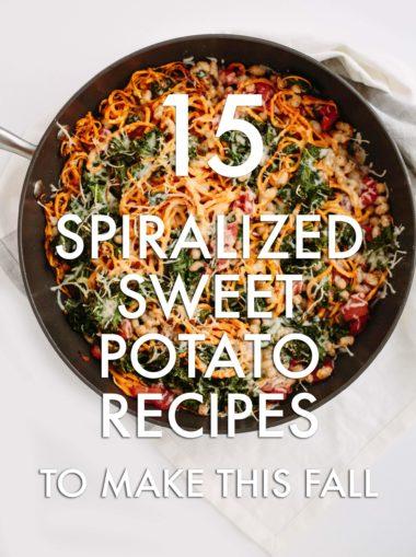 15 Spiralized Sweet Potato Recipes To Make This Fall
