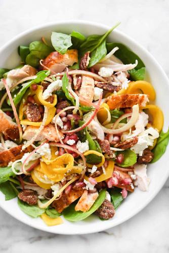 Butternut Squash, Apple and Roast Turkey Salad
