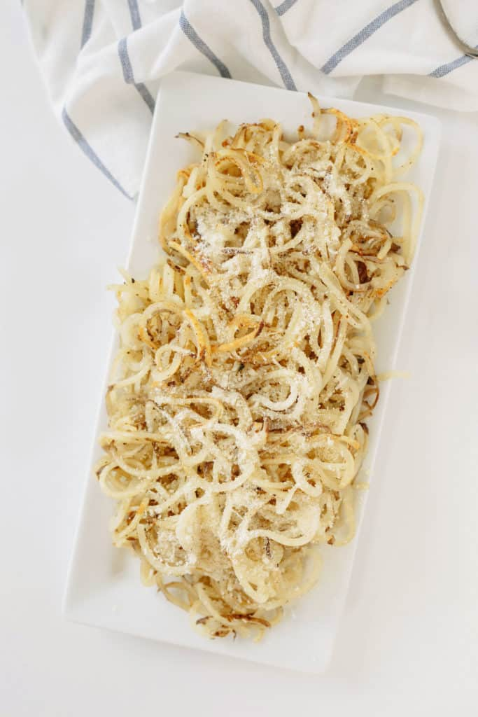 Spiralized Potatoes with Parmesan and Garlic