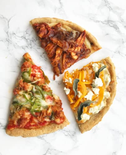 Gluten-Free Pizza with Spiralized Toppings Three Ways