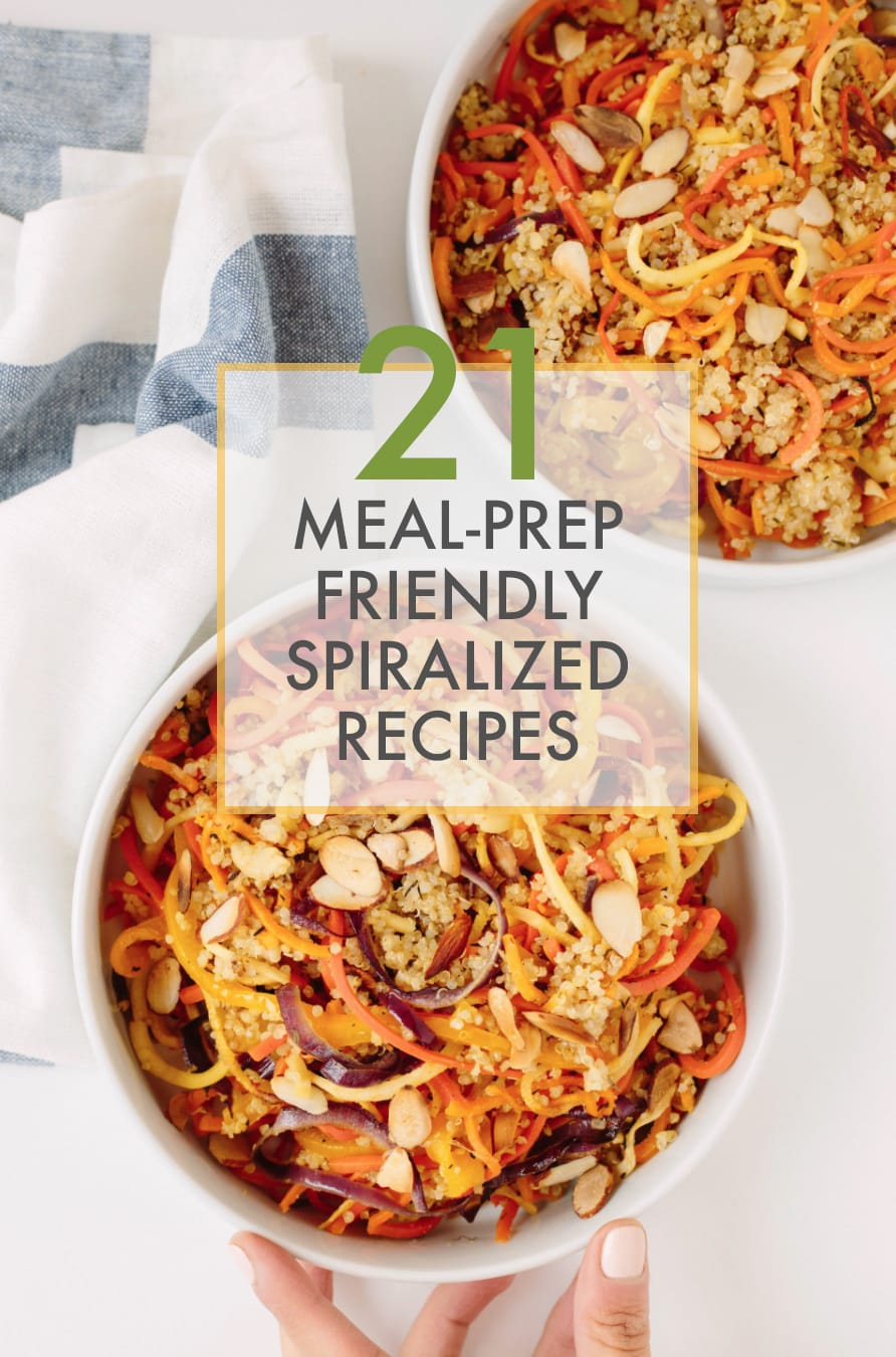 21 Meal-Prep Friendly Spiralized Recipes