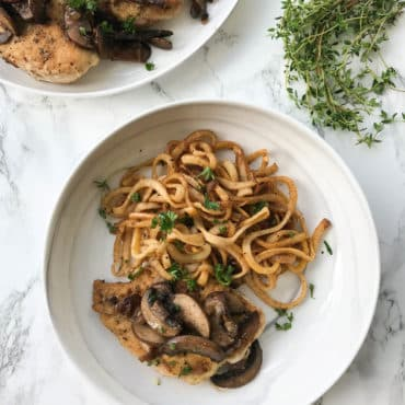 Chicken Marsala with Spiralized Rutabaga