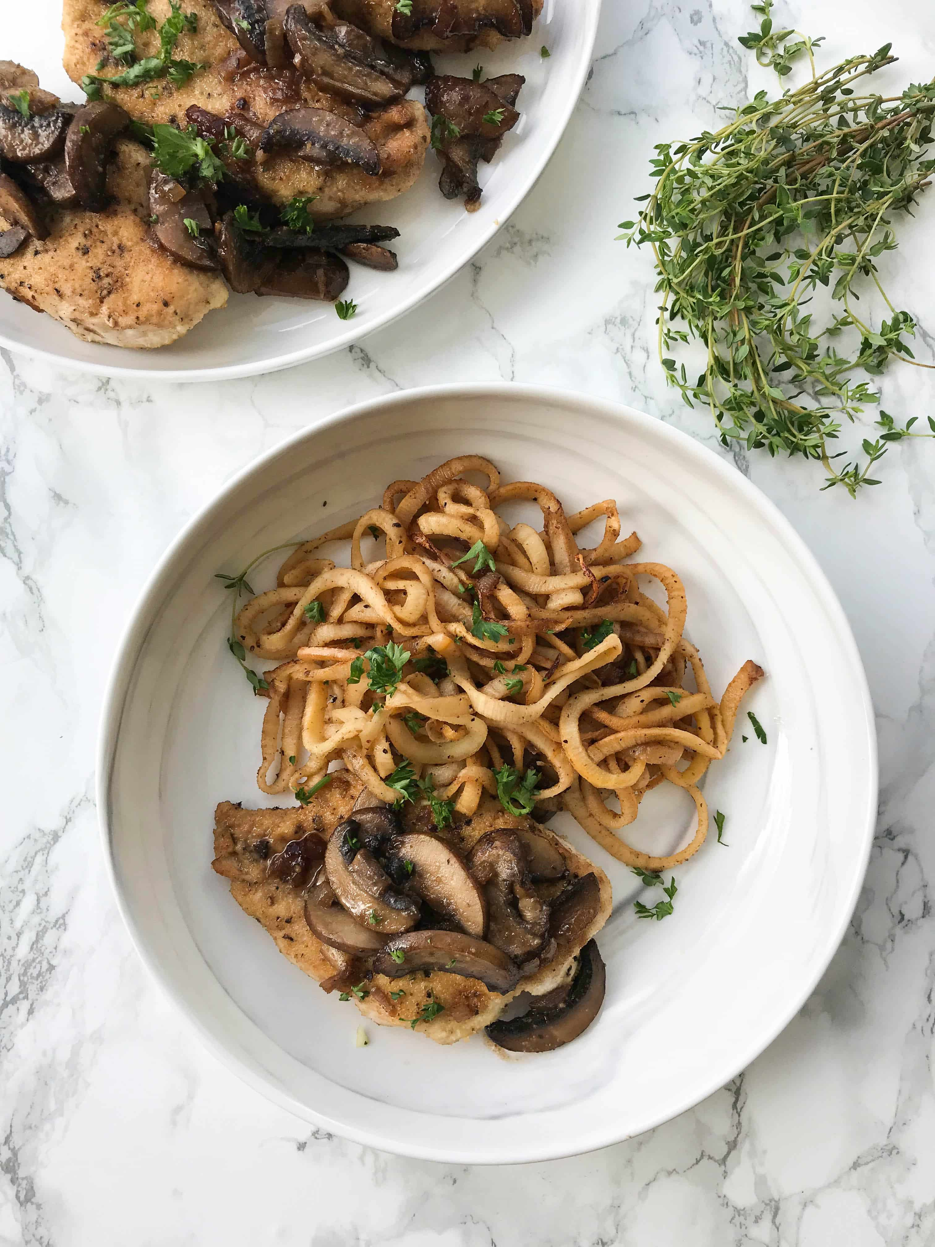 Chicken marsala with spiralized rutabaga inspiralized chicken marsala with spiralized rutabaga forumfinder Choice Image