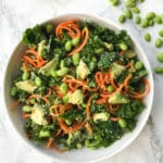 Kale, Edamame and Carrot Noodle Salad with Ginger-Sesame Sauce