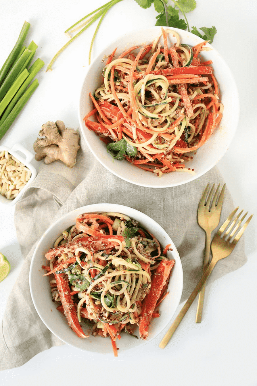 THAI QUINOA AND ZUCCHINI NOODLE SALAD