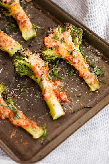 Margherita Style Charred Broccoli Slabs