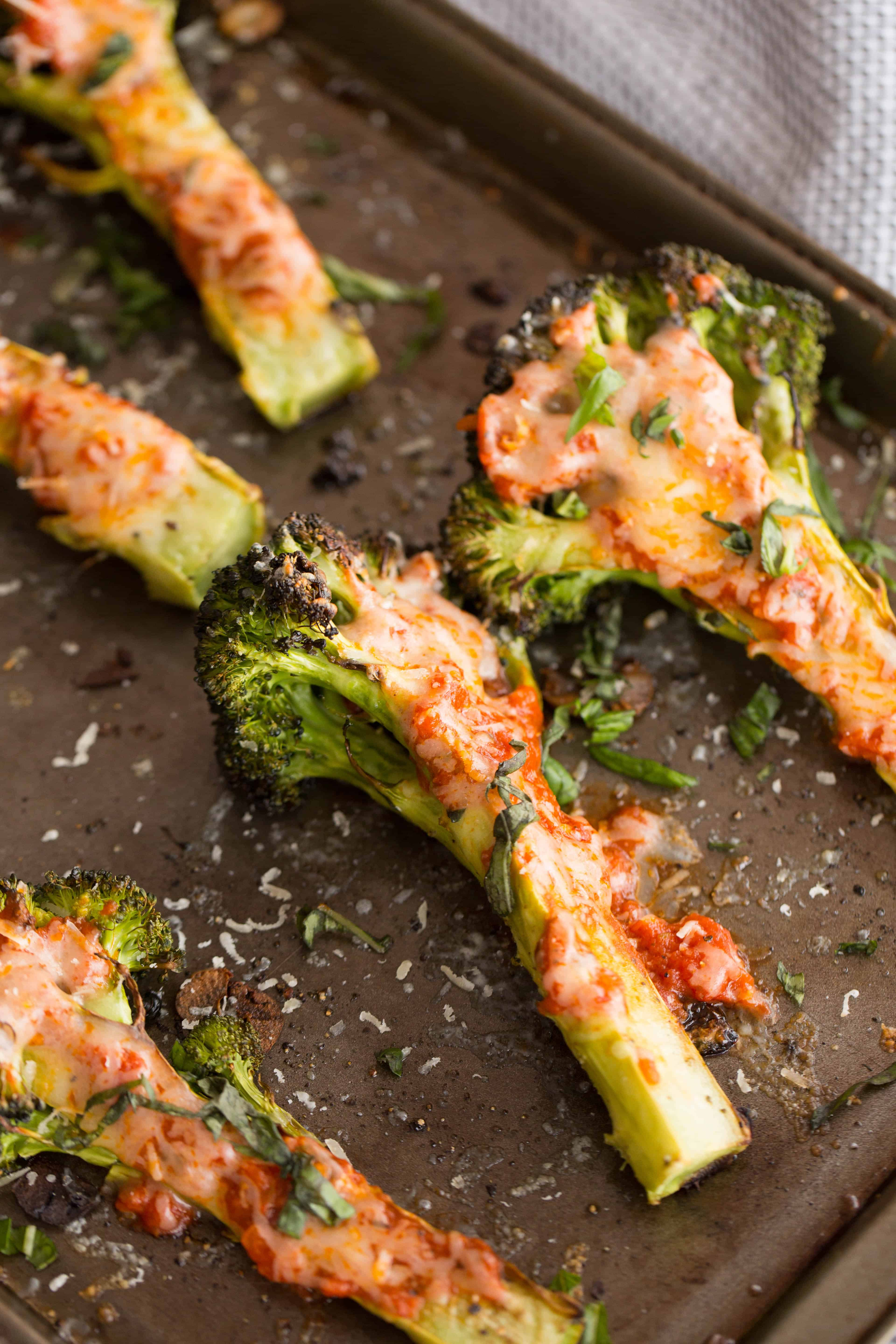 Margherita Style Charred Broccoli Slabs
