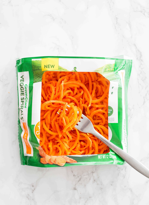 Buffalo Chicken Swiss Chard Wraps with Spiralized Carrots