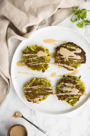Vegan Split Pea and Zucchini Noodle Fritters