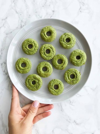 Spinach Banana and Oat Donuts