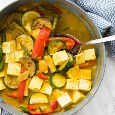 Tofu and Vegetable Curry with Quinoa