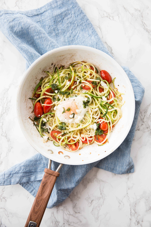 Zucchini Noodle Egg Nests