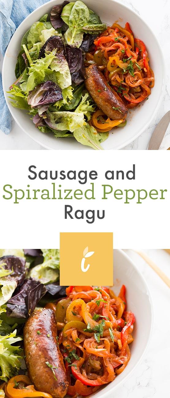 Sausage and Spiralized Pepper Ragu