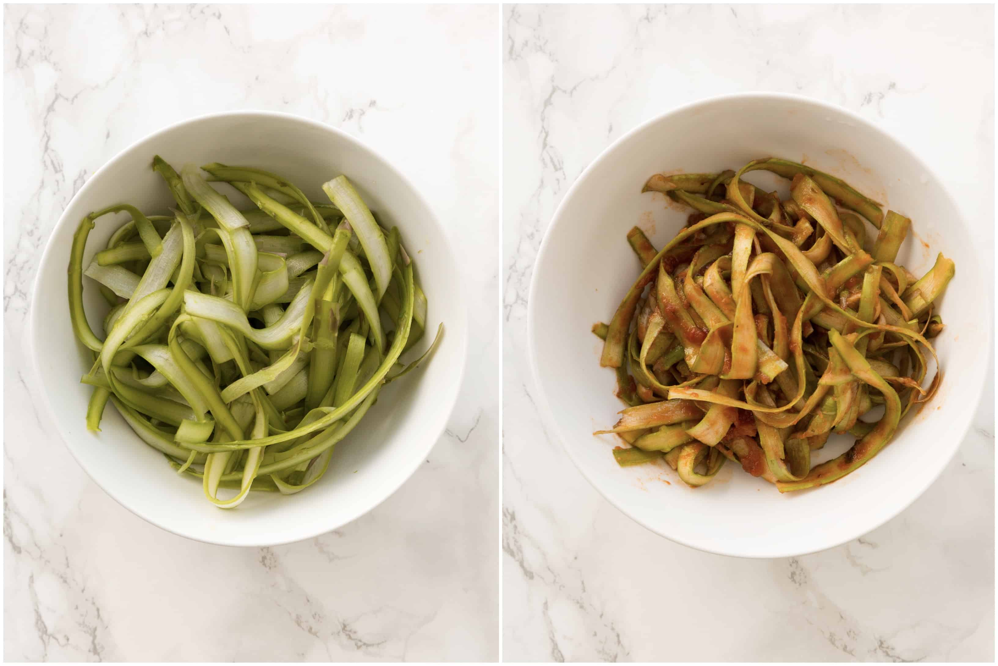6 Healthy Pasta Alternatives - Asparagus Noodles