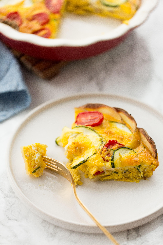 Potato Crust Zucchini Quiche