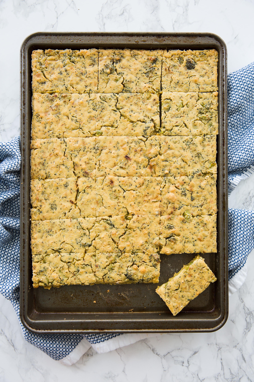 Vegan Broccoli Chickpea Breadsticks