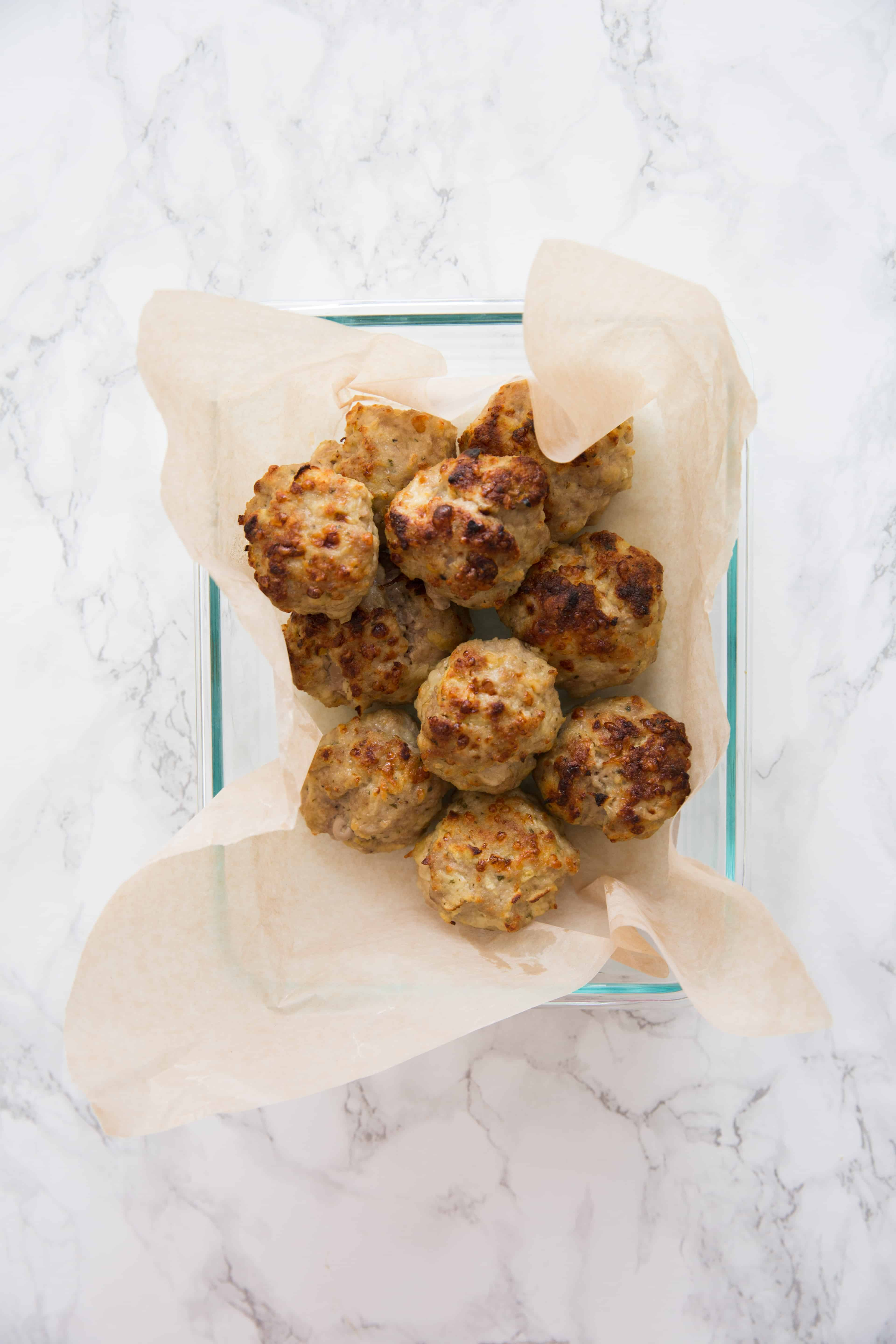 Gluten Free Pork, Apple and Cheddar Meatballs