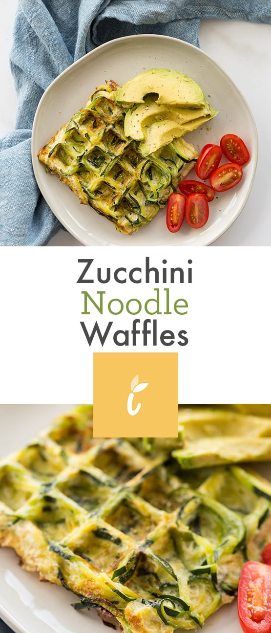 Zucchini Noodle Egg Waffle