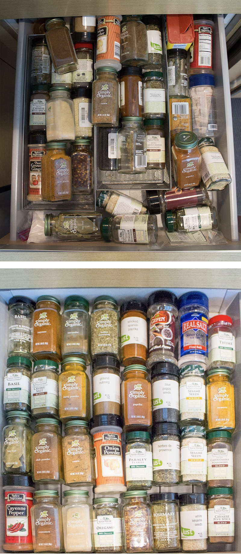 Organizing Before And After: Inspiralized: Kitchen Organization: Before And After