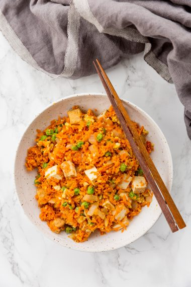 Sweet Potato Tofu Fried Rice