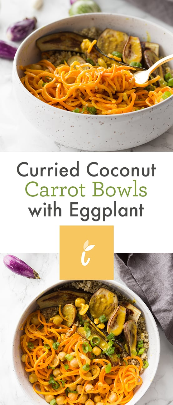 Curried Coconut Carrot Bowls with Eggplant