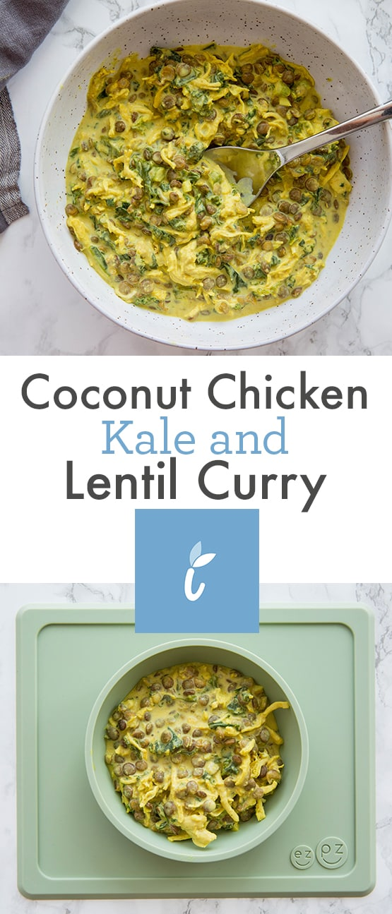 Coconut Chicken, Kale and Lentil Curry