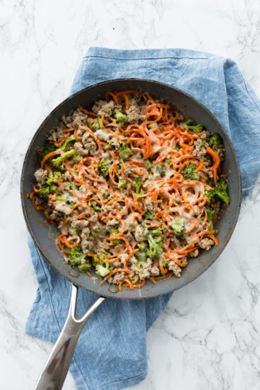 Turkey, Broccoli and Carrot Noodle Bake