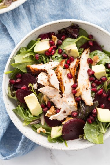 Roast Chicken and Beet Salad with Walnuts