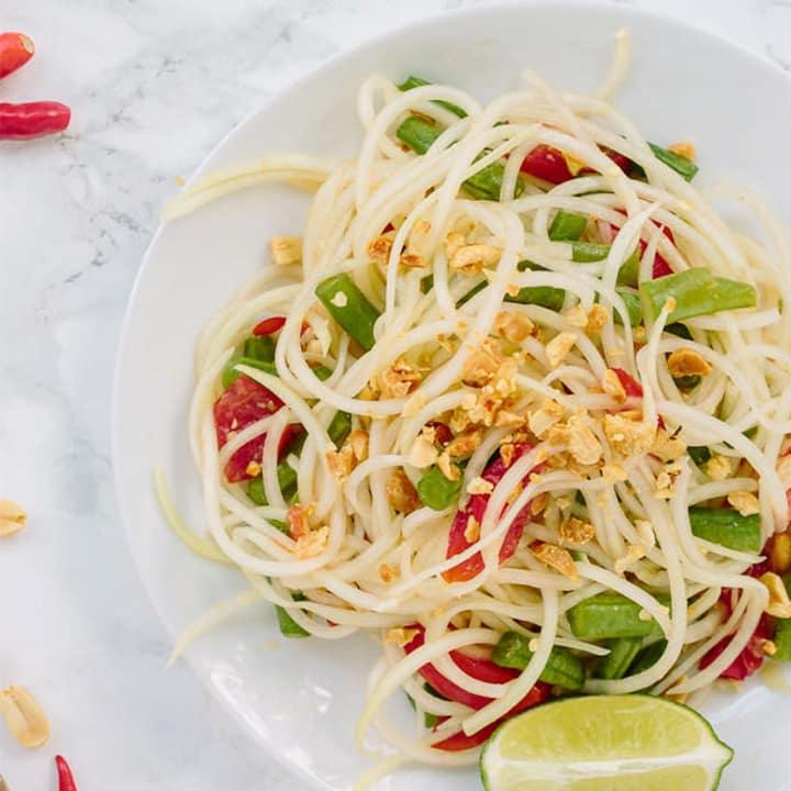 Spiralized Som Tam (Thai Papaya Salad)