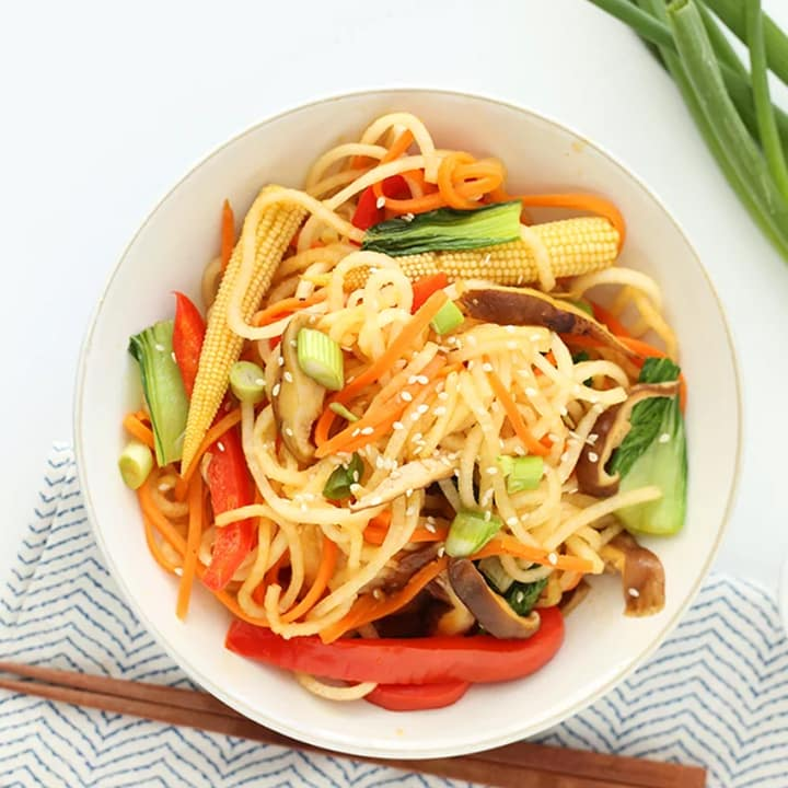 Daikon Noodle with Vegetable Lo-Mein