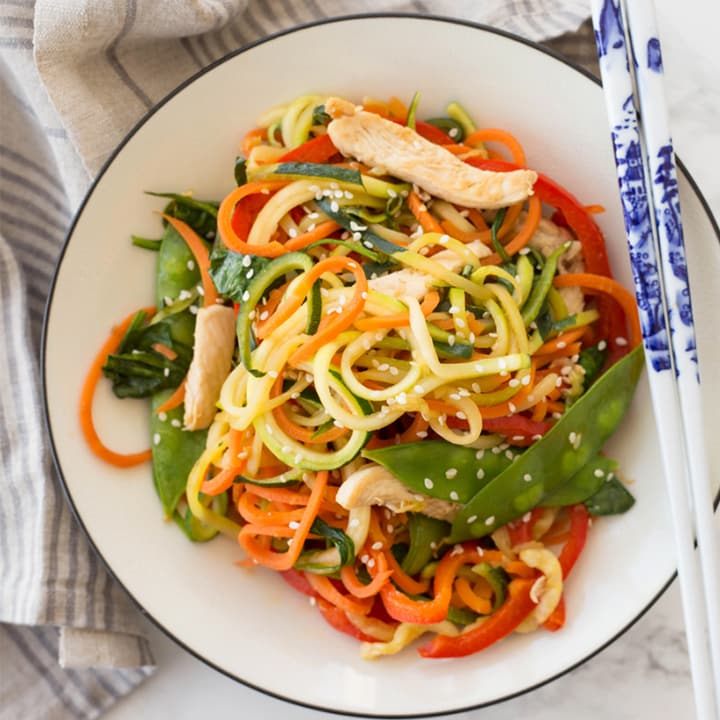 Chicken Lo Mein with Spiralized Vegetables
