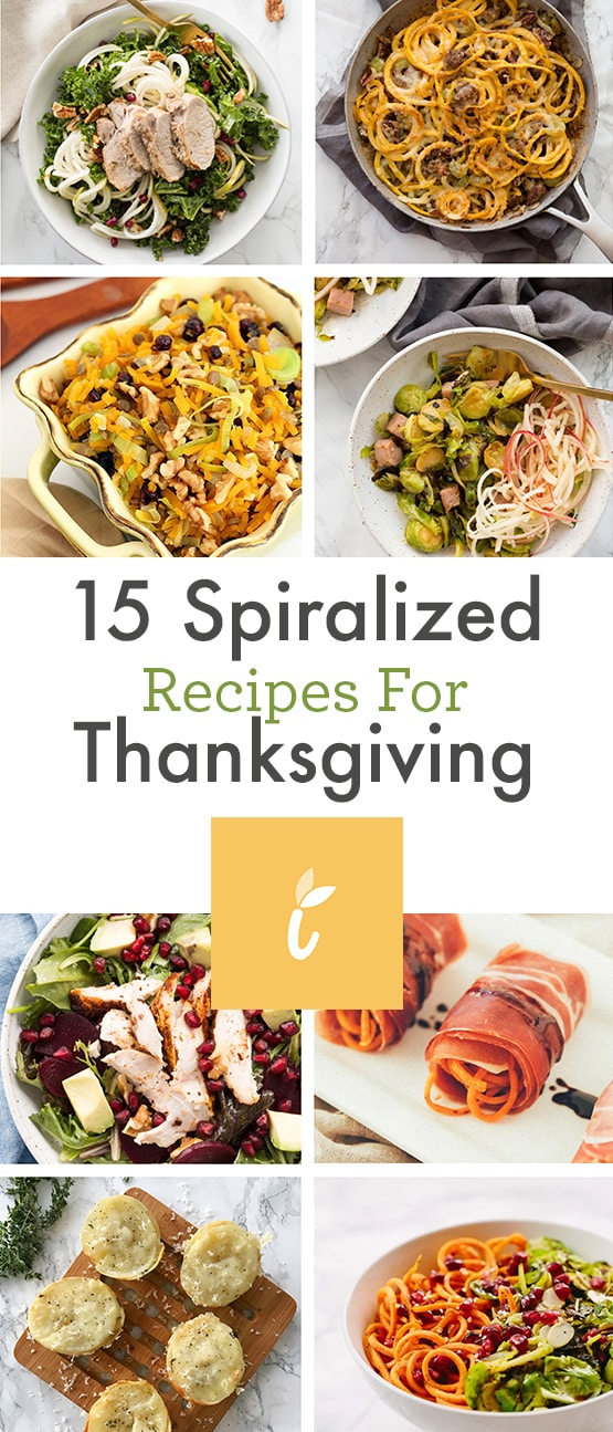 15 Spiralized Recipes for Thanksgiving