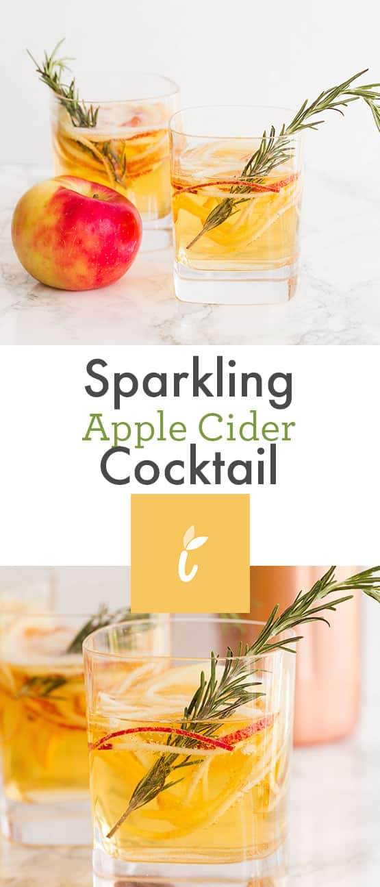 Sparkling Apple Cider Cocktail