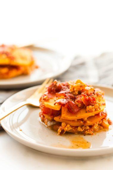 Butternut Squash Vegan Tofu Lasagna